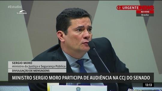 Moro explica diferença entre divulgação do Intercept e do grampo de Dilma e Lula