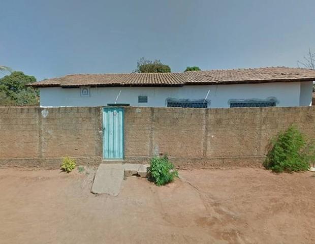 Centro Municipal de Educação Infantil Gente Inocente, no Bairro Rio Novo, em Janaúba, MG (Foto: Reprodução/Google Street View)
