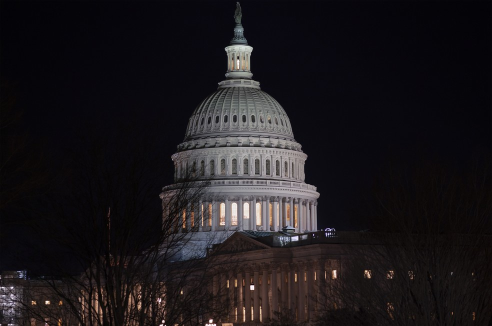 O Capitólio, sede do Congresso americano, em foto de 29 de janeiro de 2020. — Foto: J. Scott Applewhite/AP