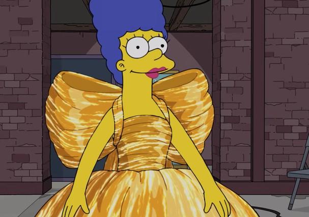 Marge Simpson no episódio especial da Balenciaga (Foto: Reprodução)