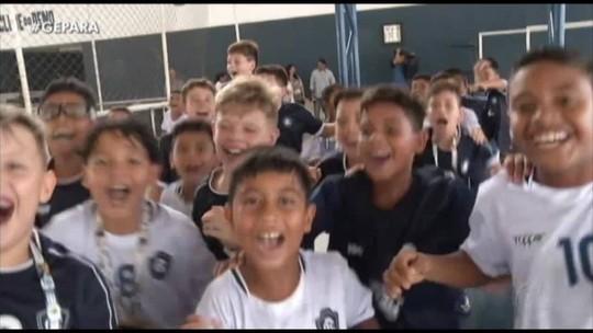 VÍDEO: Garotada do Remo retorna em festa a Belém após títulos em Norte/Nordeste de futsal