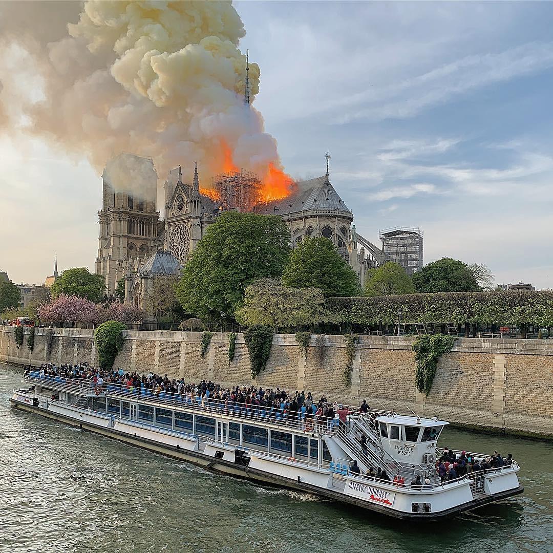 Catedral de Notre Dame (Foto: Reprodução / Instagram @mrwilliamhall)