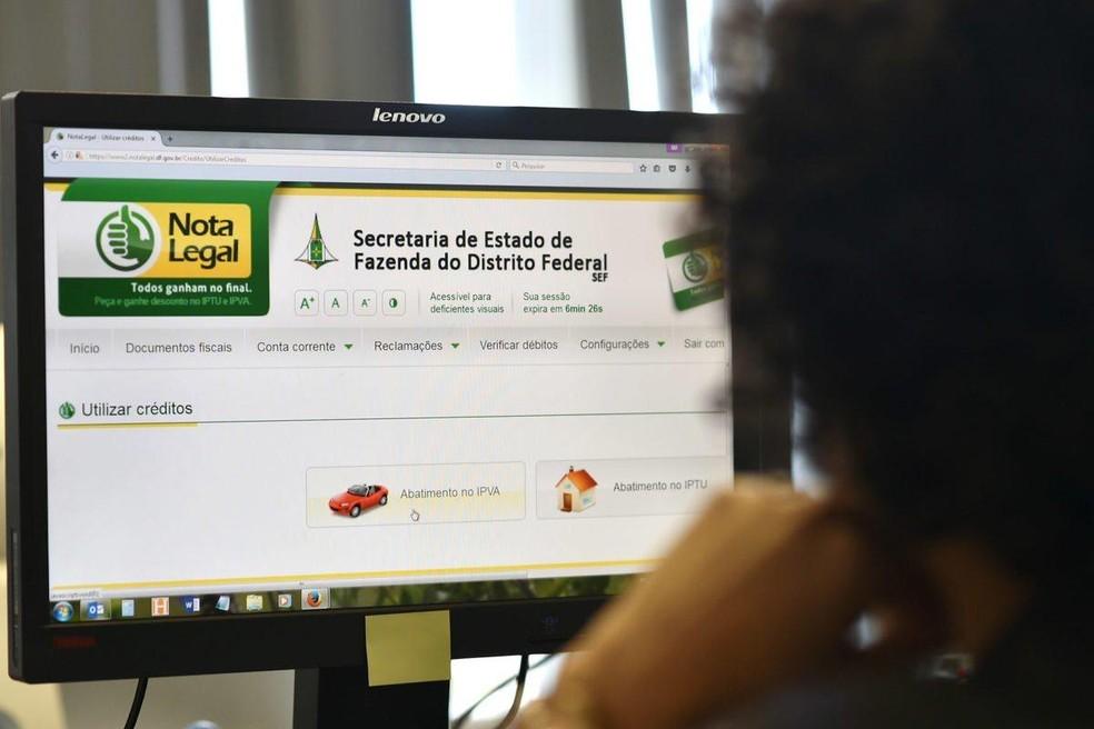 Sorteio do programa Nota Legal  — Foto: Tony Winston/Agência Brasília