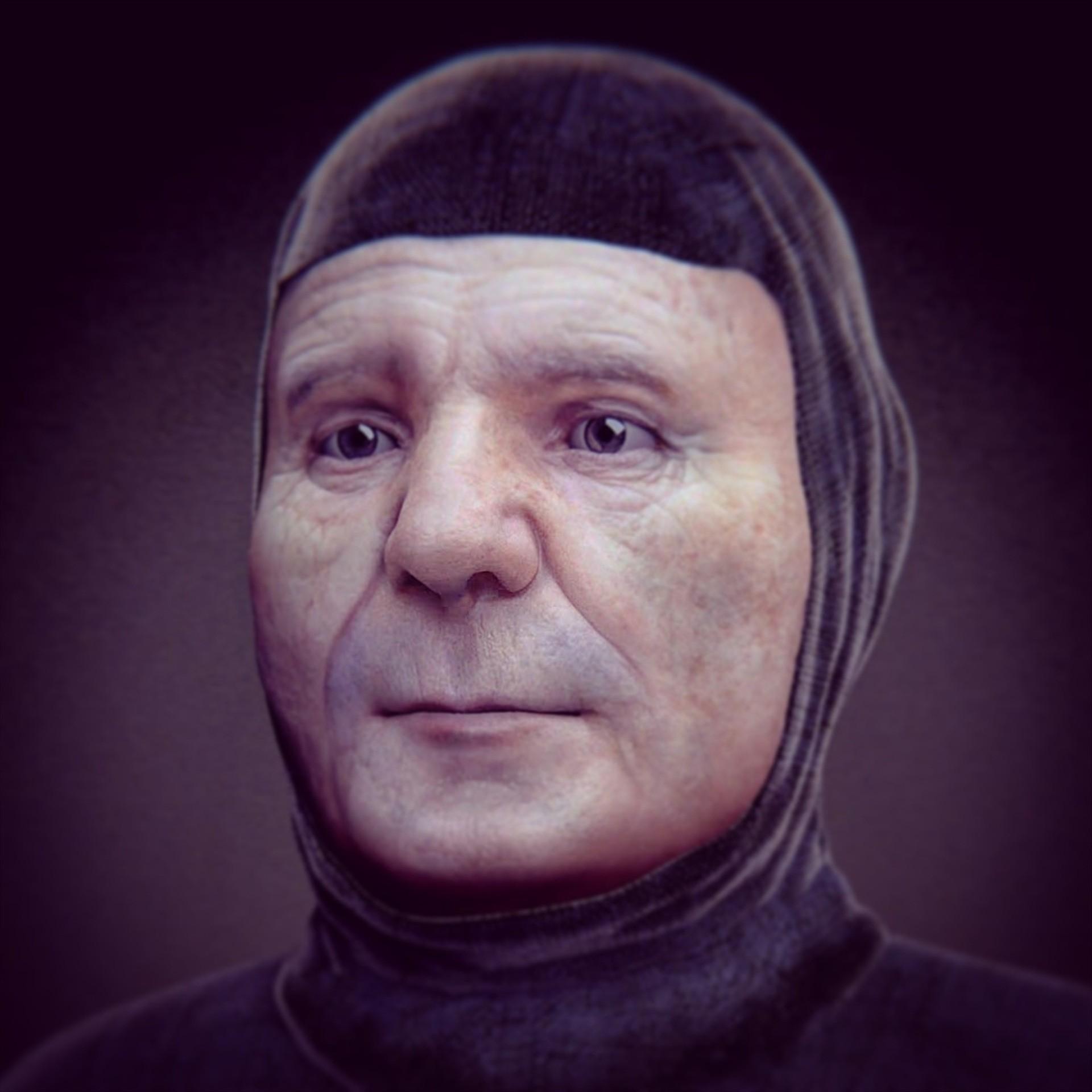 Reconstituição do rosto do poeta italiano Francesco Petrarca (1304 - 1374) (Foto: Reprodução/ Cícero Moraes)