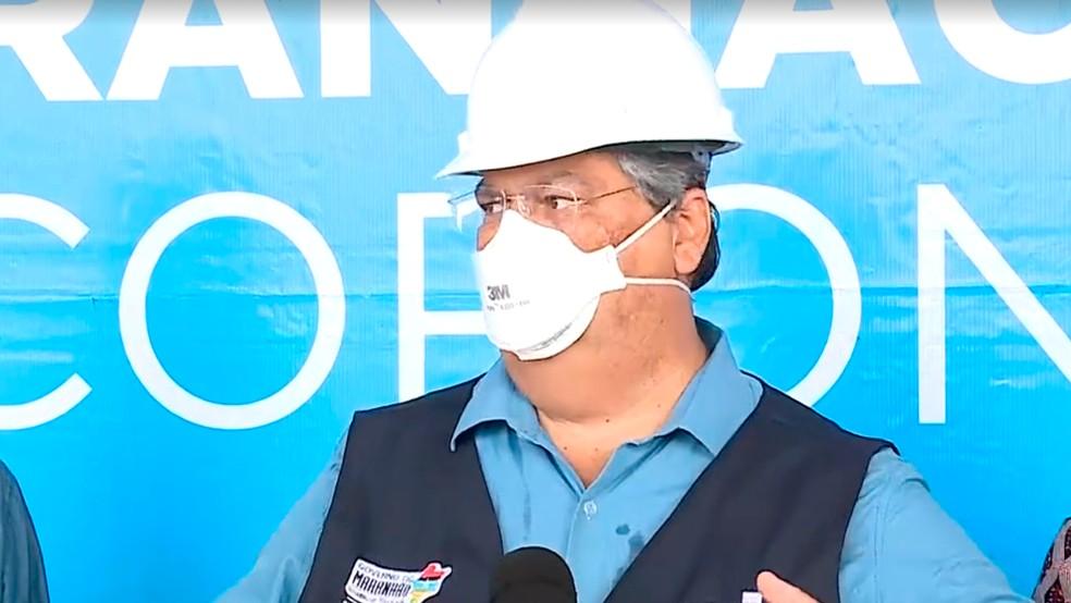 Flávio Dino afirma que Anvisa autorizou entrada de 38 indianos no Maranhão — Foto: TV Mirante