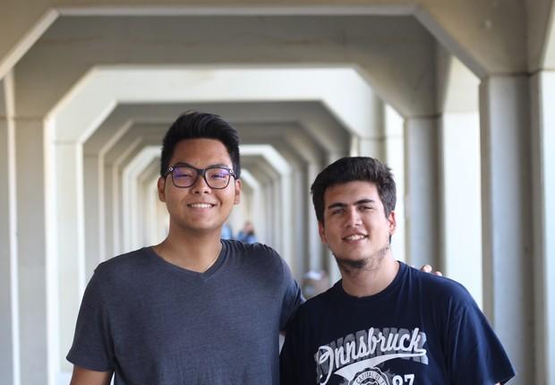 Daniel Suzuki e Gabriel Domingues na TAU (Foto: Daniel Suzuki)