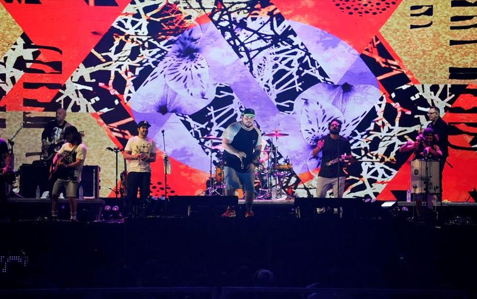 Grupo Atitude 67 é atração principal na Arena das Dunas nesta quarta (27) (Foto: Júlio César Costa)