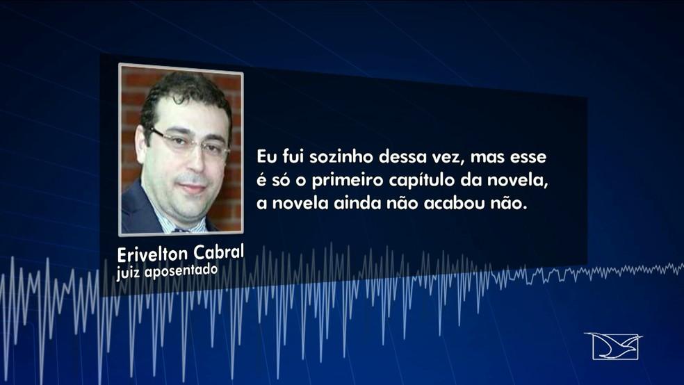 Juiz aposentado enviou mensagem para outro irmão, onde debocha por estar impune (Foto: Reprodução/TV Mirante)