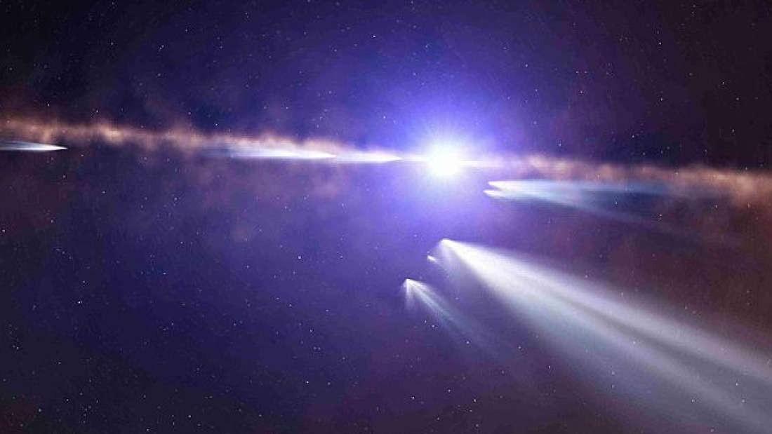Cometa orbitando estrela Beta Pictori é flagrado por telescópio espacial Transiting Exoplanet Survey Satellite ( TESS) (Foto:  ESO/L. Calçada)