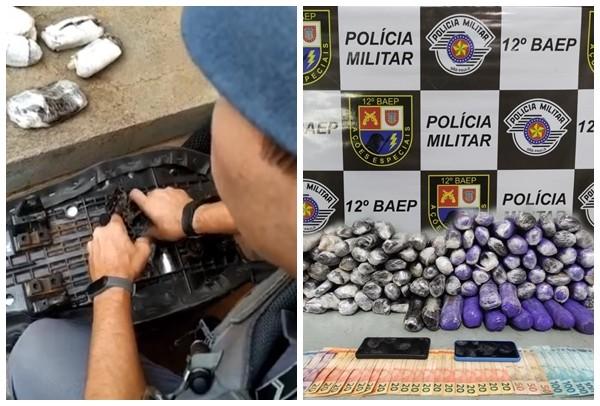 Polícia Militar apreende mais de 20 quilos de haxixe em rodovia de Braúna