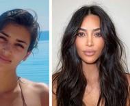 """Kim Kardashian resgata fotos de 20 anos atrás com look natural e é enaltecida: """"Era linda e ainda é"""""""