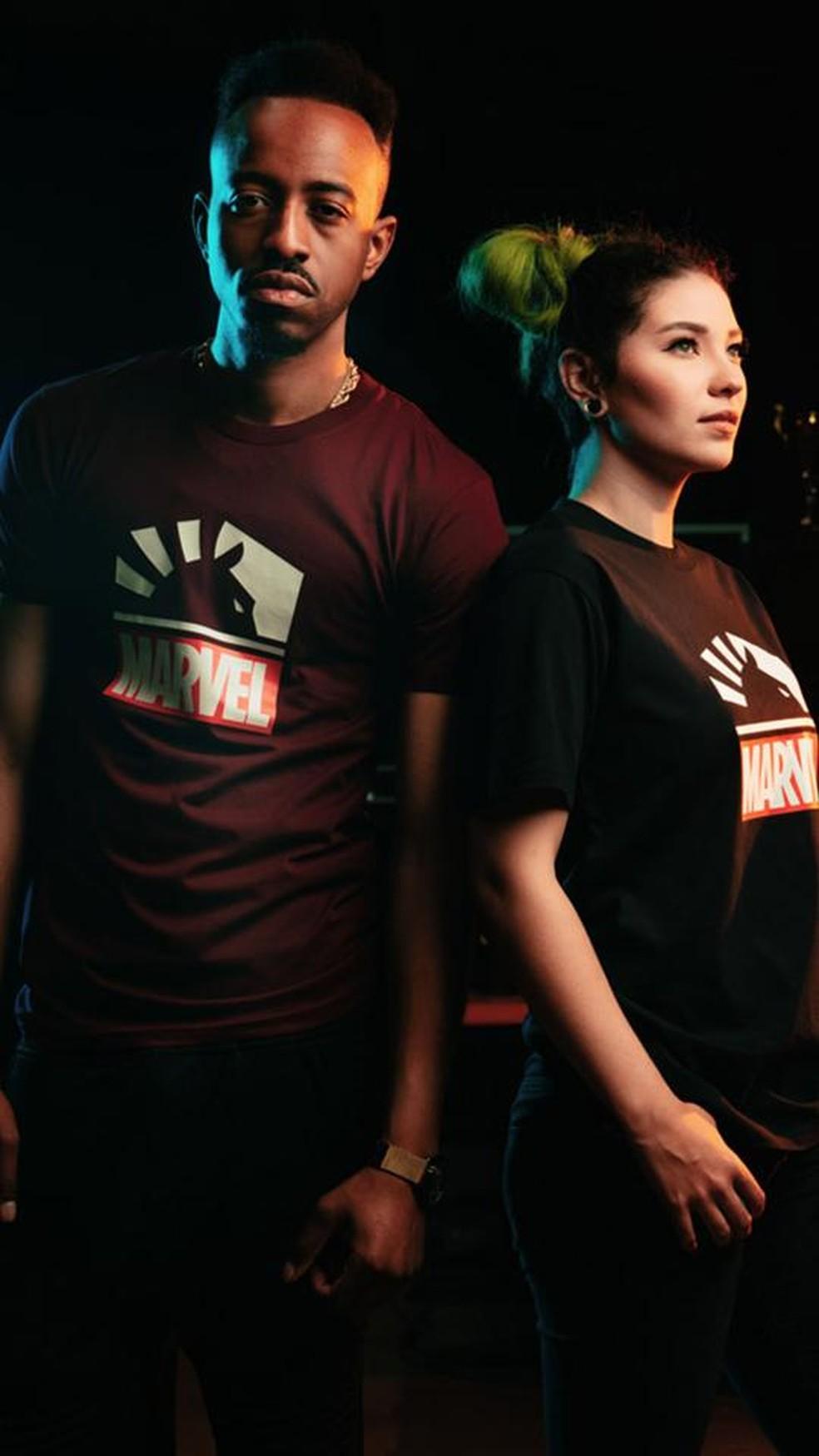 Camiseta básica Marvel x Team Liquid