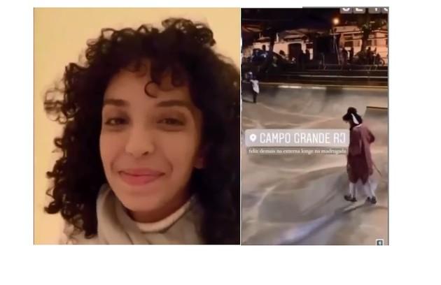 Agnes Brichta, filha de Vladimir Brichta, anda de skate e fará uma personagem skatista na novela (Foto: Reprodução)