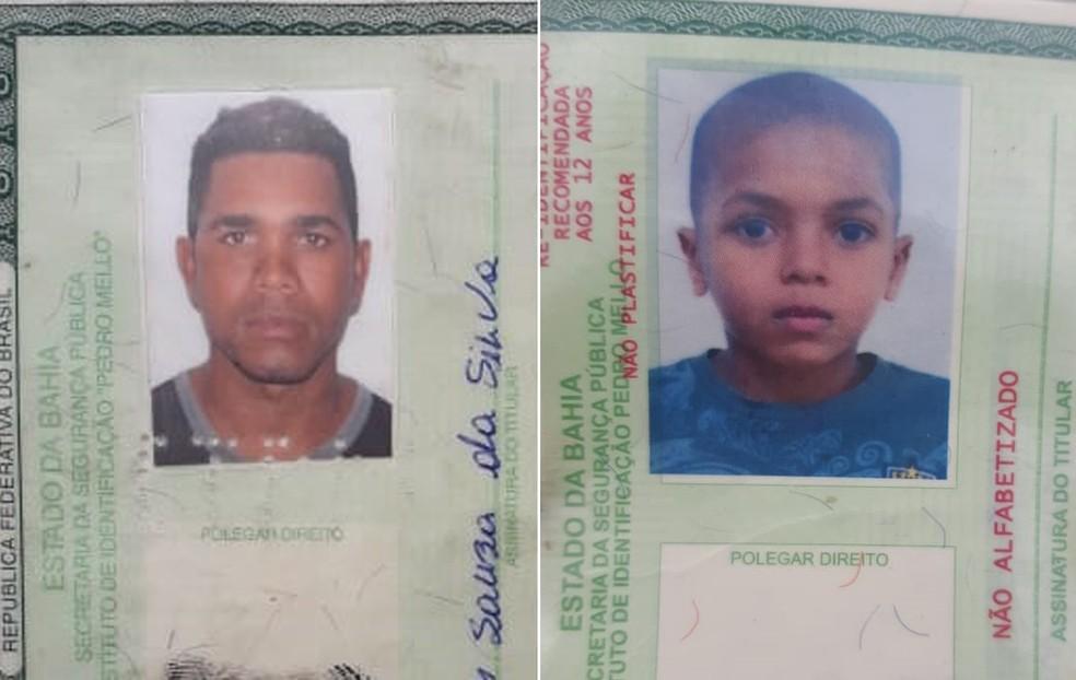 Segundo a PRF, criança e o pai viajavam sem cinto de segurança — Foto: Jony Torres/TV Bahia
