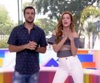 Joaquim Lopes e Sophia Abrahão no 'Video show' | Reprodução