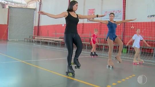 'Compartilha' leva Kriss Oliveira para aula de patinação artística