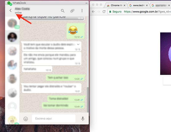 WhatsDock muda visual do WhatsApp e cria janela parecida com