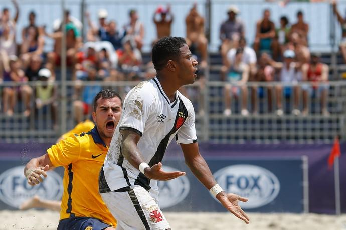 Boquinha Vasco Rosario Central  Libertadores futebol de areia (Foto: Marcelo Zambrana/Agência Estado)