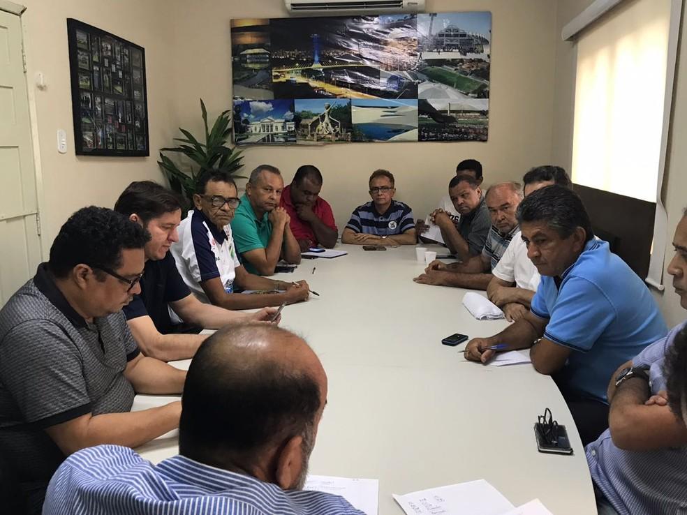 Reunião FFP do sub-19 (Foto: Divulgação/FFP)