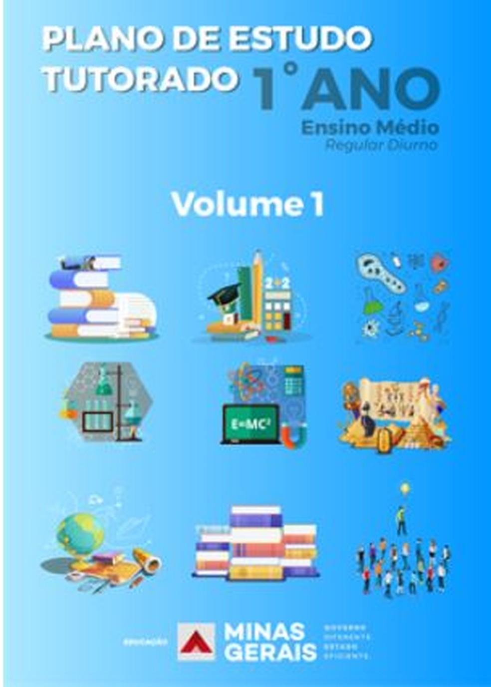 Material do Plano de Estudo Titorado do 1º ano do Ensino Médio — Foto: SEE/Divulgação