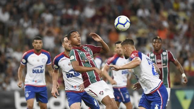 Fluminense e Bahia fizeram um jogo intenso no Maracanã