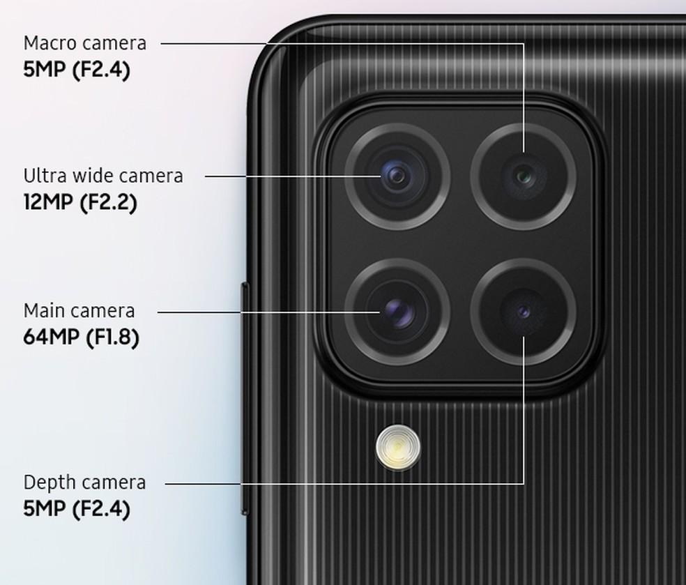 Câmeras do Galaxy M62 — Foto: Divulgação/Samsung