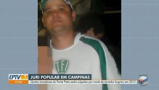 Torcedores da Ponte acusados de matar bugrino após 'derbinho' de 2012 vão a júri popular nesta terça