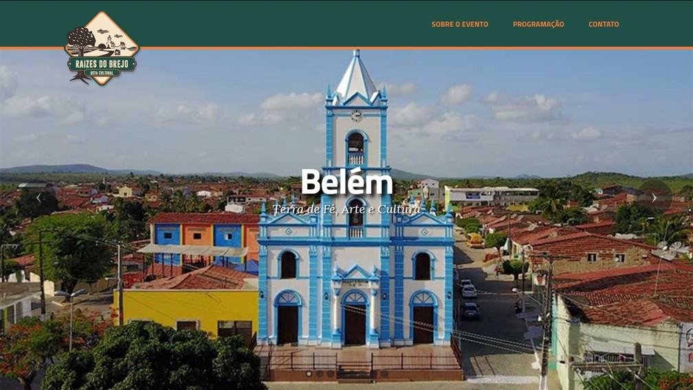 Belém é a primeira cidade na PB a receber o 'Raízes do Brejo - Rota Cultural' 2017 (Foto: Reprodução/raizesdobrejo.com)
