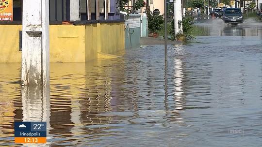 Balneário Barra do Sul e Barra Velha cancelam programação de carnaval por causa dos estragos da chuva