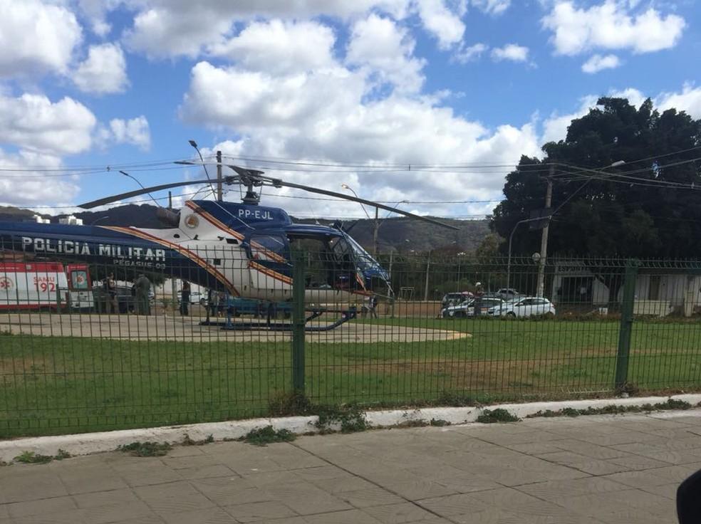 Homem com ferimentos graves de queimaduras foi transferido para o Hospital Santa Casa de Montes Claros (Foto: Glauber Baydeck/ Arquivo Pessoal)
