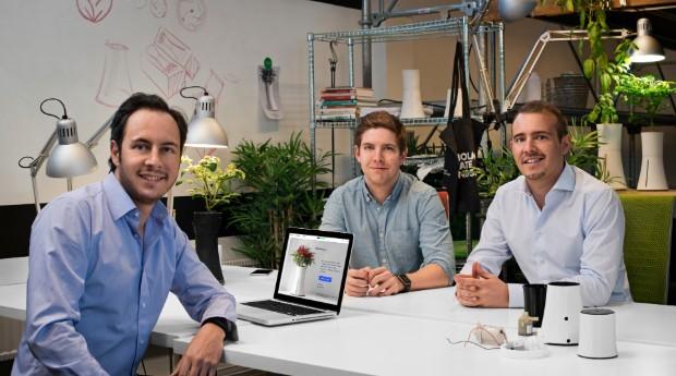 Mario Sanchez (esquerda), Rasmus Tretow (centro) e Johannes Roselius, fundadores da Botanium (Foto: Divulgação)