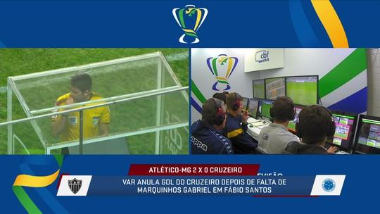 Loffredo analisa o lance do gol anulado do Cruzeiro