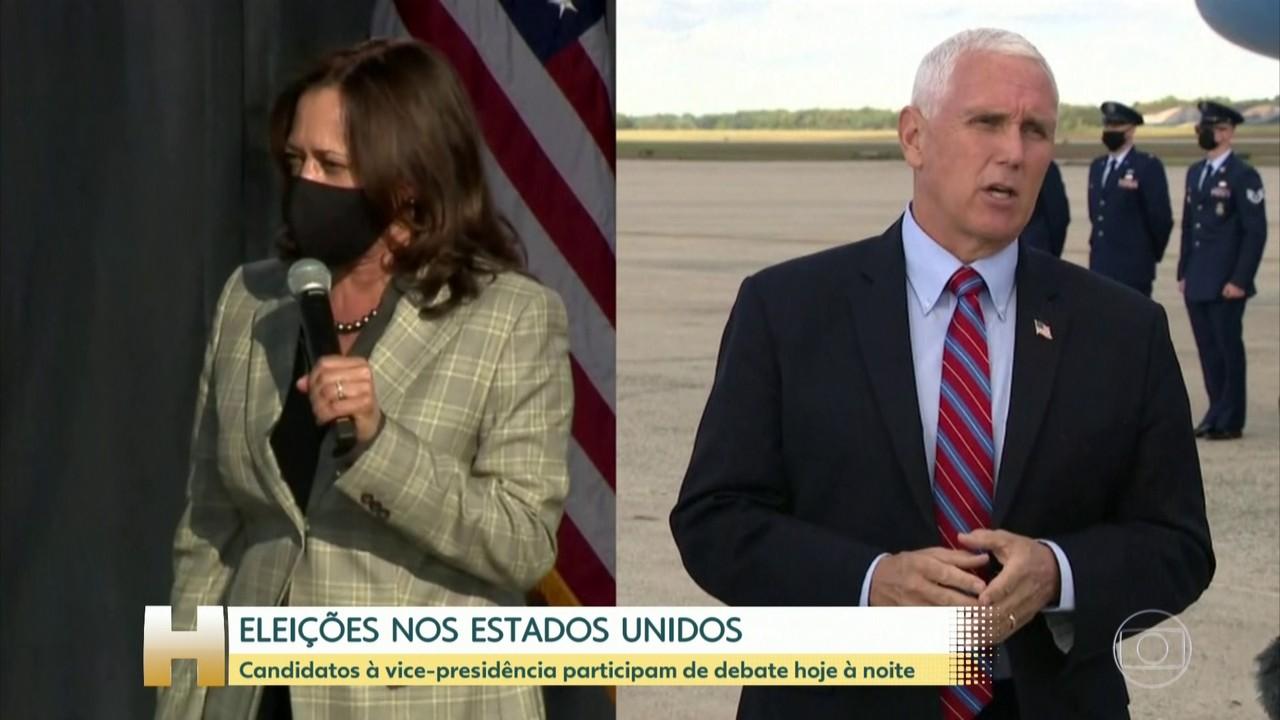 Mike Pence e Kamala Harris se enfrentam na noite desta quarta no debate dos vices