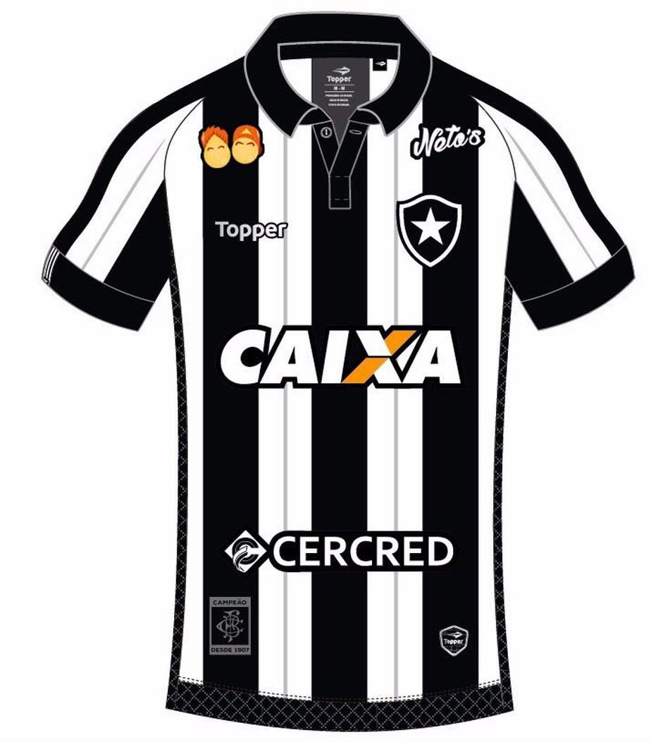 5aa21712d7 O nome e a logo da marca aparecerão na região da omoplata na camisa  alvinegra já no confronto desta segunda-feira contra o Palmeiras.