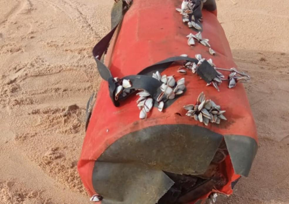 Uma das mochilas encontrada em Nova Viçosa — Foto: Divulgação/SSP-BA