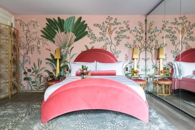 Efeito cênico - paisagens pintadas em murais ou papéis de parede (Foto: Emma Lewis / Divulgação)