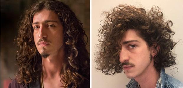 Antes e depois de Johnny Massaro (Foto: TV Globo/Marilia Cabral/Divulgação)