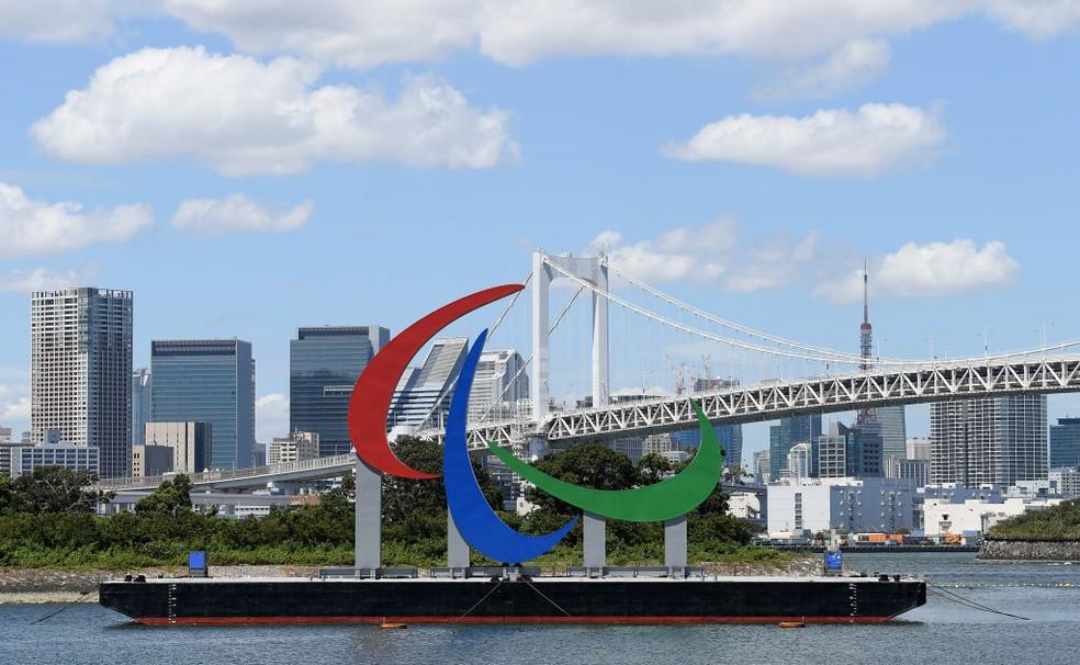 Agitos das Paralímpiadas de Tóquio — Foto: Alex Davidson/Getty Images