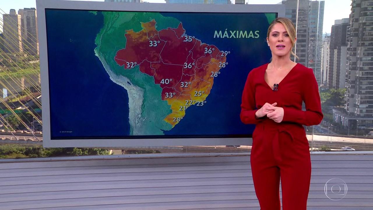 Veja a previsão do tempo para esta quarta-feira (26) em todo país