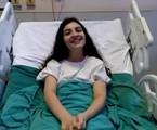 Mabel Calzolari no hospital | Reprodução