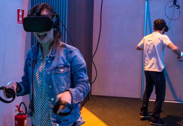 Parques Voyager têm uma série de atrações com óculos de realidade virtual (Foto: Divulgação/Arvore)