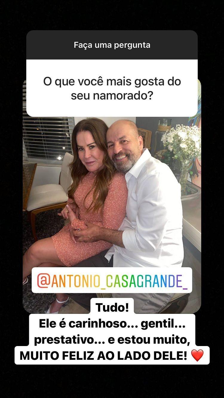 Zilu Godói e o namorado, Antônio Casagrande (Foto: Reprodução/Instagram)