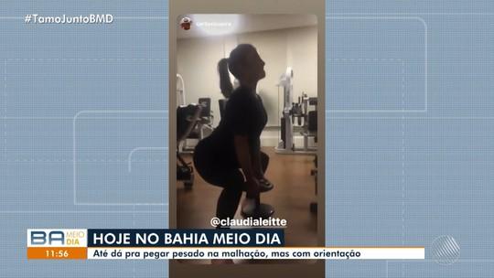 Claudia Leitte posta vídeo com malhação durante a gravidez