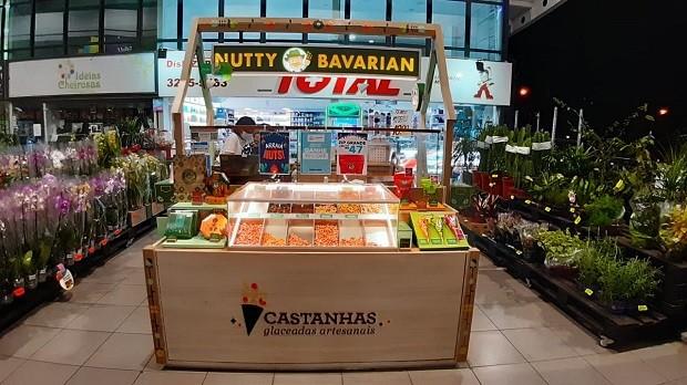 Quiosque da Nutty Bavarian para supermercados (Foto: Divulgação)