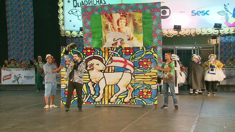 Serviços são realizados no Sesc Goiana, durante o Festival de Quadrilhas Juninas da Globo 2018 (Foto: Reprodução/TV Globo)