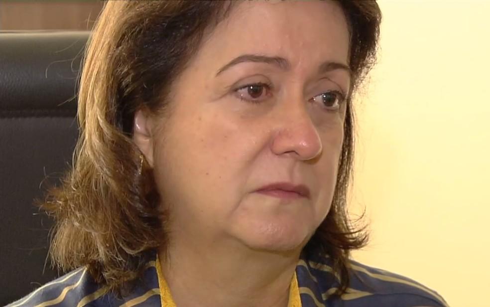 Médica Irene Ribeiro Machado, que trabalha no HMI, desabafa sobre falta de condições do hospital — Foto: Reprodução/TV Anhanguera