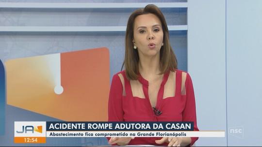 Adutora rompe em Palhoça e abastecimento da Grande Florianópolis é prejudicado