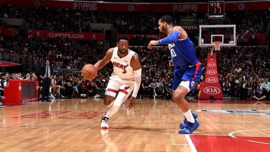 Heat surpreende e vence os Clippers em Los Angeles com grande atuação de Dwyane Wade