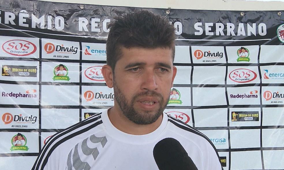 Sidney Oliveira é o presidente do Serrano-PB — Foto: Reprodução / TV Cabo Branco