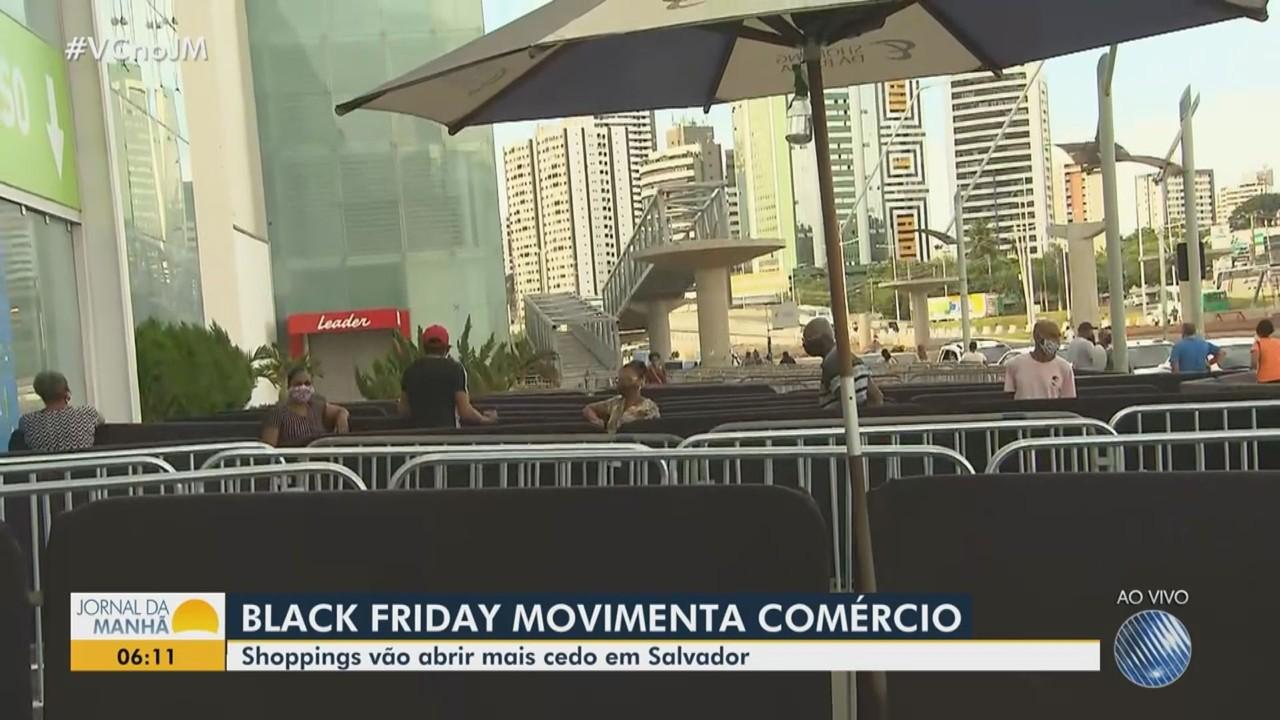 Shoppings são autorizados para abrir mais cedo por causa da Black Friday em Salvador